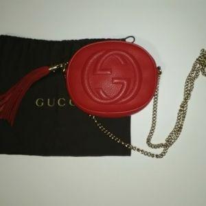 Gucci Leather Soho Small Chain Crossbody Bag